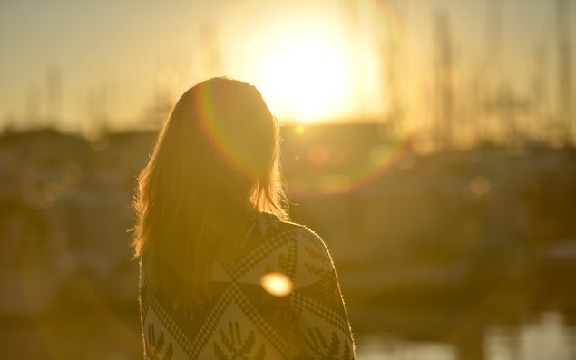 dawn-sunset-person-woman